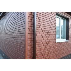 Фасадні панелі Стоун Хаус Цегла червона Ю-Пласт StoneHaus