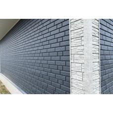 Фасадні панелі Стоун Хаус Цегла графітова Ю-Пласт StoneHaus