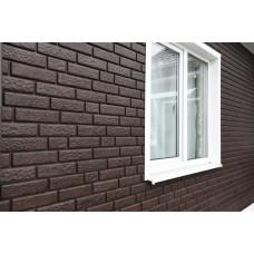 Фасадні панелі Стоун Хаус Цегла коричнева Ю-Пласт StoneHaus