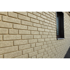 Фасадні панелі Стоун Хаус Цегла пісочна Ю-Пласт StoneHaus