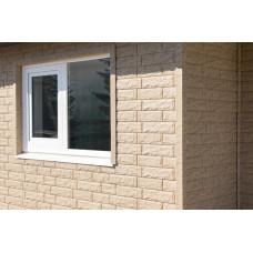 Фасадні панелі Стоун Хаус Камінь золотистий Ю-Пласт StoneHaus