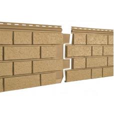 Фасадні панелі Стоун Хаус Клінкер гірчичний S-Lock Ю-Пласт StoneHaus
