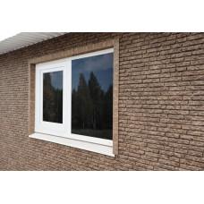 Фасадні панелі Стоун Хаус Кварцит коричневий Ю-Пласт StoneHaus