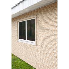 Фасадні панелі Стоун Хаус Кварцит світло-бежевий Ю-Пласт StoneHaus