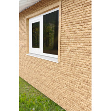 Фасадні панелі Стоун Хаус Кварцит темно-бежевий Ю-Пласт StoneHaus